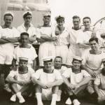 Davis, J in group on deck, Freetown