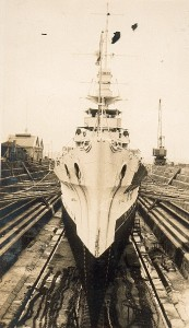 Dunedin in dock, Auckland, NZ Sept 1928