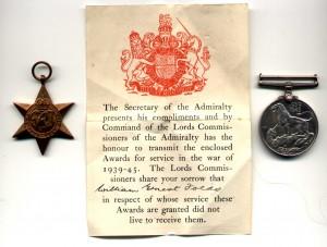 Folds W medals WW11 Dunedin