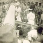 Captain Lovatt receives King Neptune