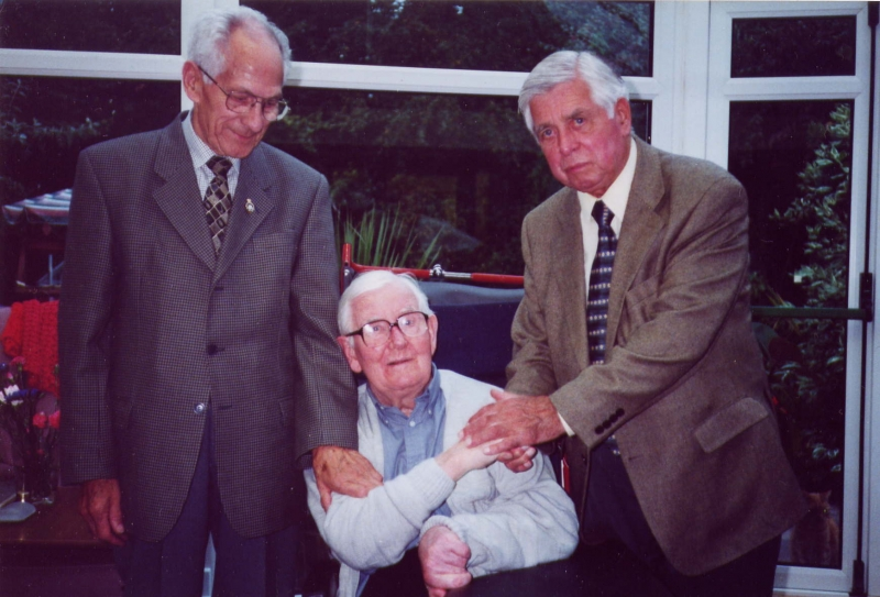 John Miles with Bill Gill and Jim Davis 2002