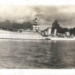 HMS Dunedin (1918) at Noumea 1935