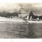 HMS Dunedin (1918) at Noumea 1935 600COL