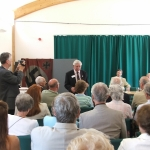 Jim Davis addresses the audience