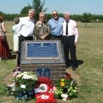 The Macaulay family with Jim Davis