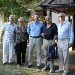 l to r: Martin and Jan Macaulay, Stuart Gill, Rob Macaulay, David Allen