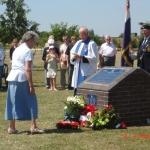 Anne Randall at the Dunedin Memorial