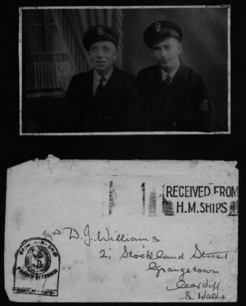 Arthur-Blackie.And-Envelope-from-HMS_-Dunedin