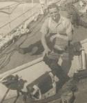 Fred Bracey on deck