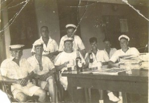 Norman, far left, taken in China in July 1936 (but not with Dunedin crew members - D never went to China)