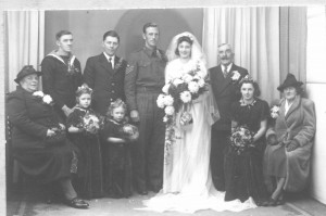 George Baker at wedding