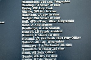 Percy Reading HMS Dunedin