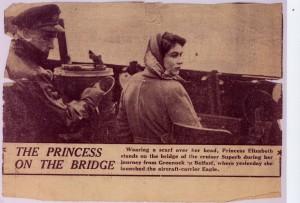 Rob Rainbow with Princess Elizabeth 1946
